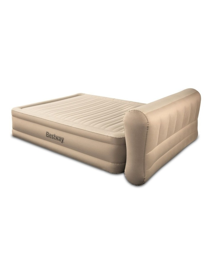 Queen Inflatable Air Bed Home Blow Up Mattress with Built-in Pump image 3