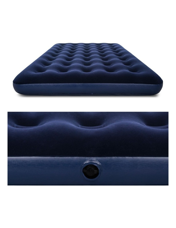 Twin Double Inflatable Air Mattress - Navy image 5