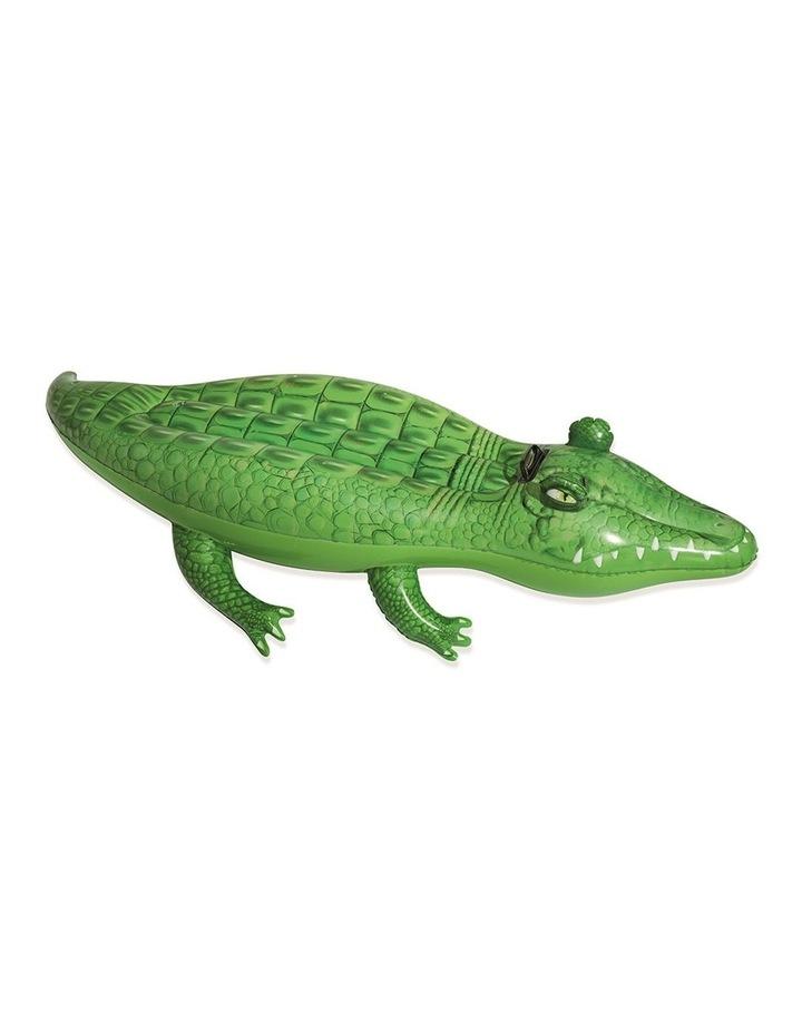 Inflatable Float Crocodile Rider 168cm Pool Toy image 1