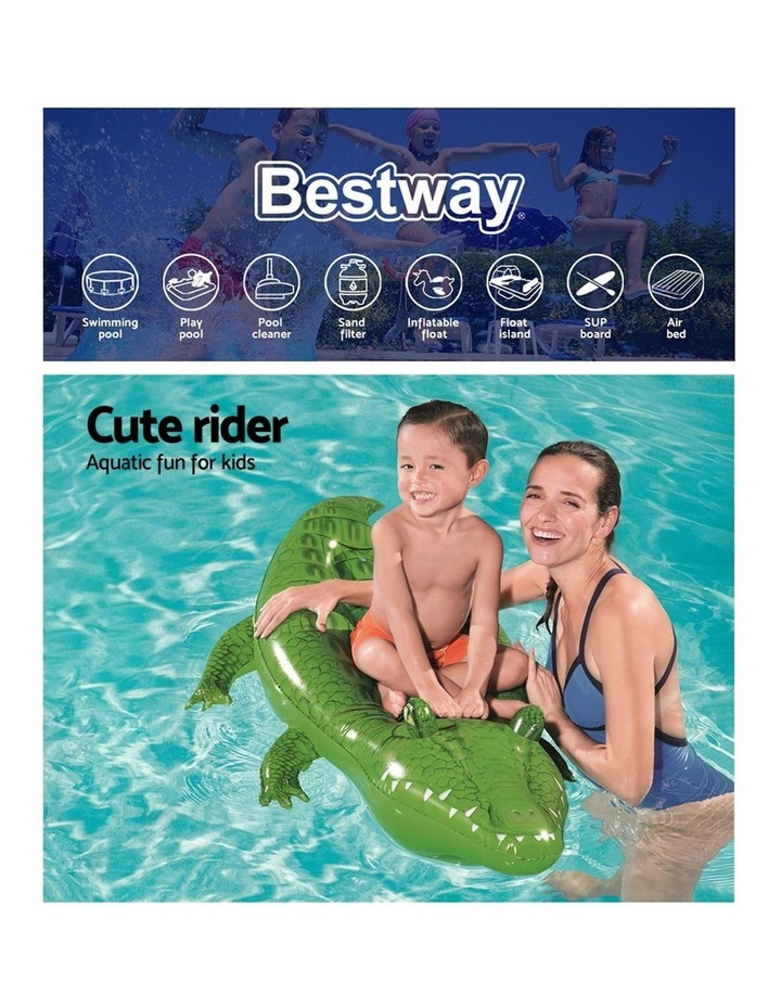 Inflatable Float Crocodile Rider 168cm Pool Toy image 4