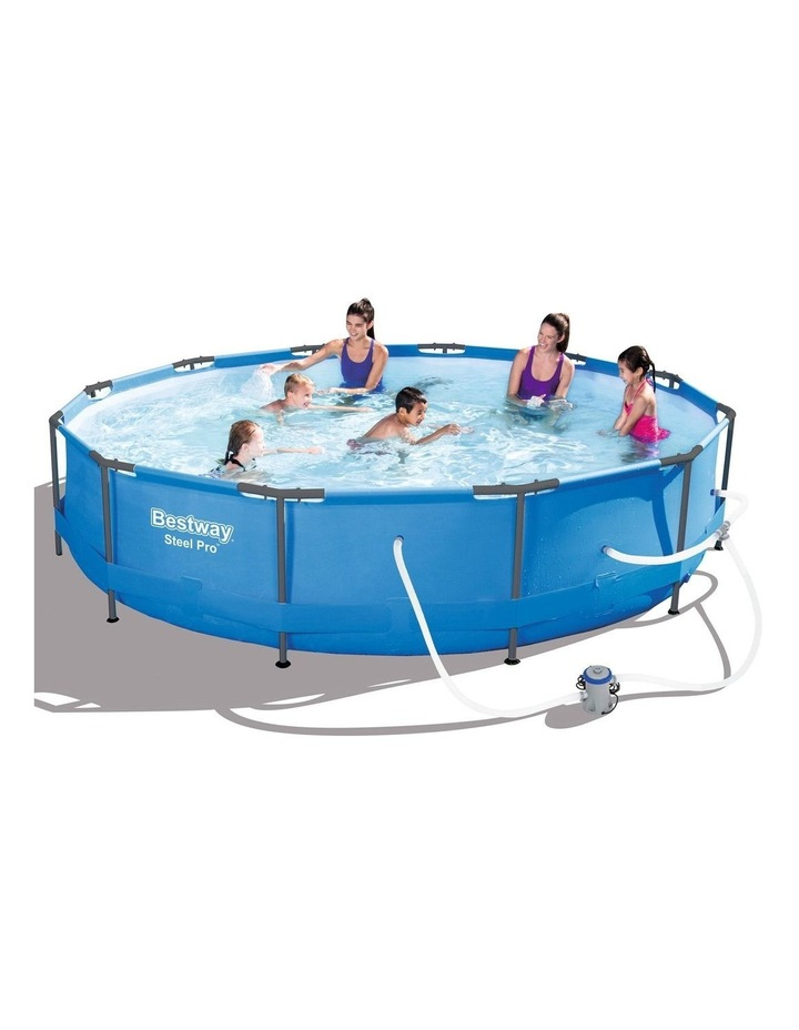 Above Ground Swimming Pool with Filter Pump image 1