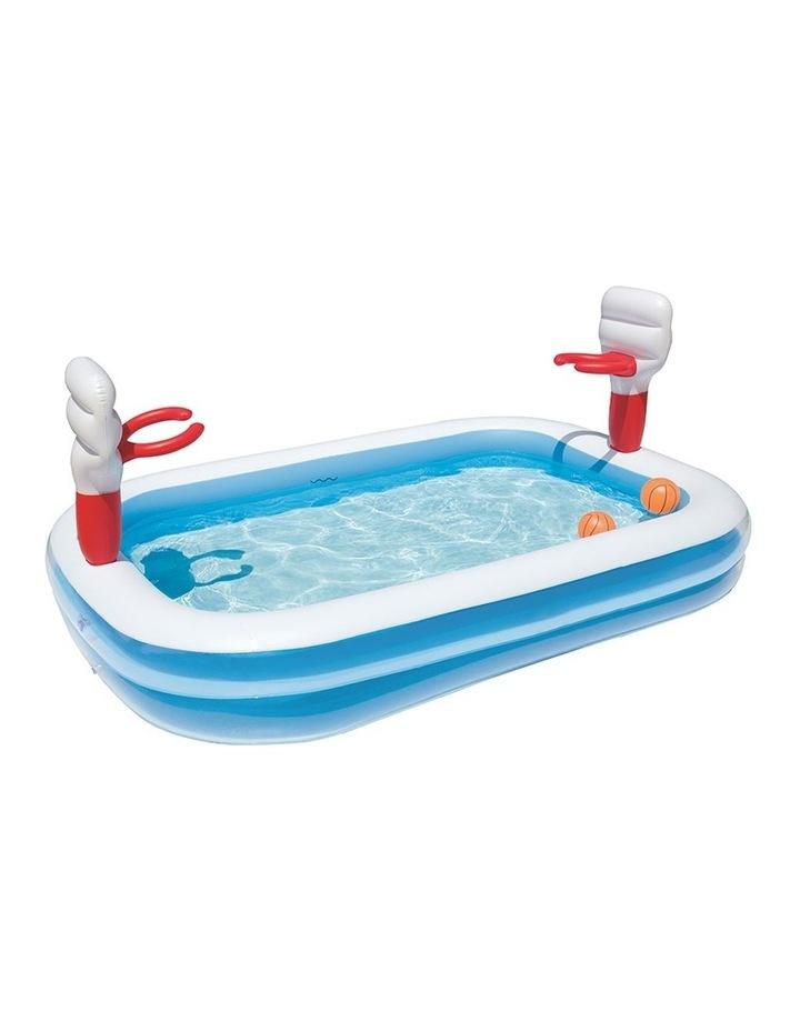 Inflatable Play Pool Kids Pool Swimming Basketball Play Pool image 1