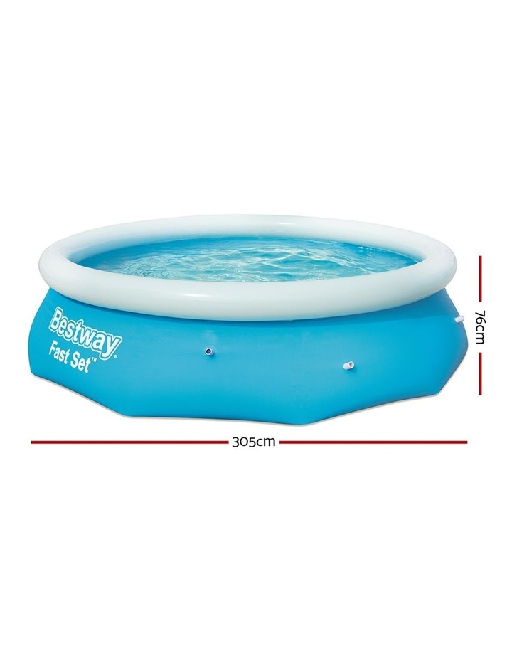 Above Ground Swimming Pool 305x76cm Fast Set Pool Family Filter Pump image 2