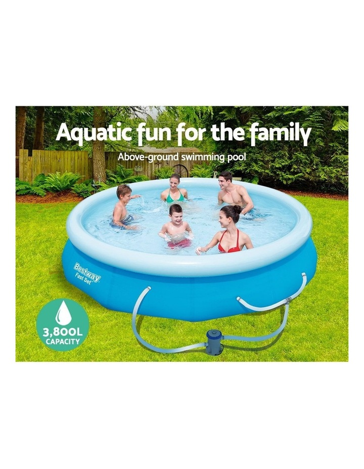 Above Ground Swimming Pool 305x76cm Fast Set Pool Family Filter Pump image 4