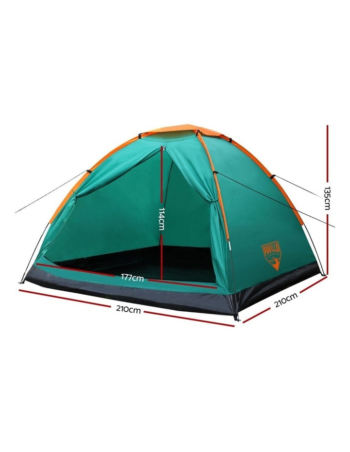 3 Person Camping Dome Canvas Family Tent image 2