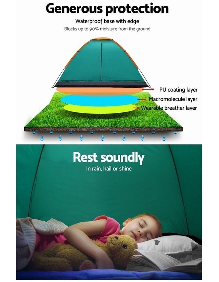 3 Person Camping Dome Canvas Family Tent image 4