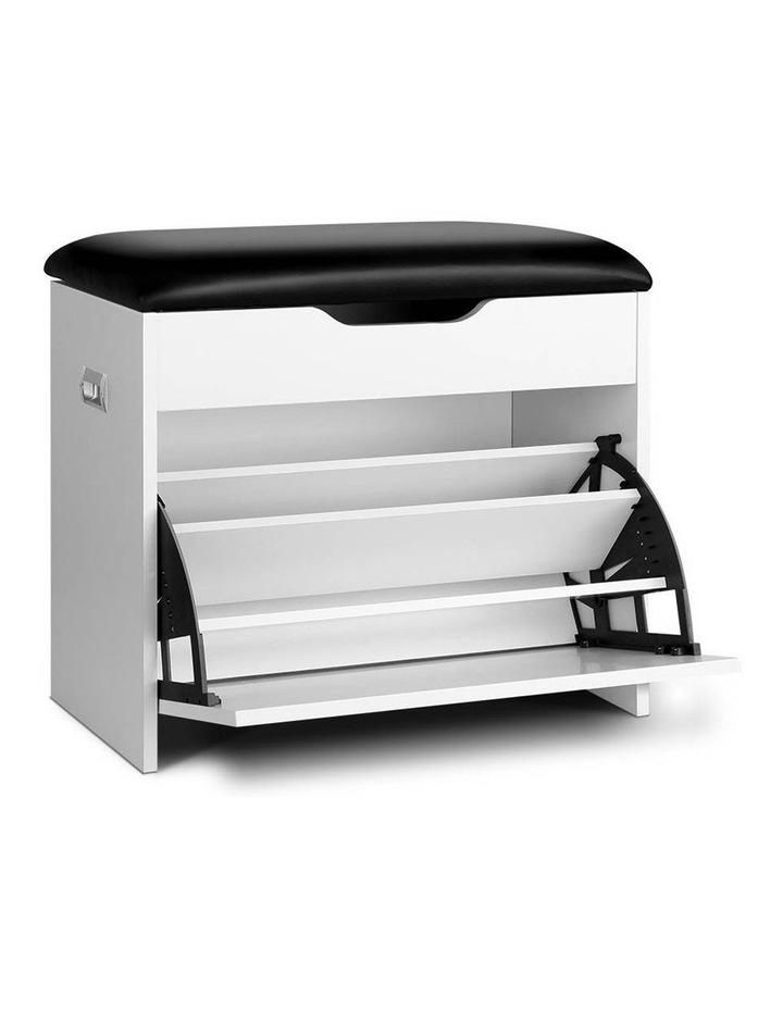 Artiss Adjustable 3 Tier Storage Cupboard - White image 1