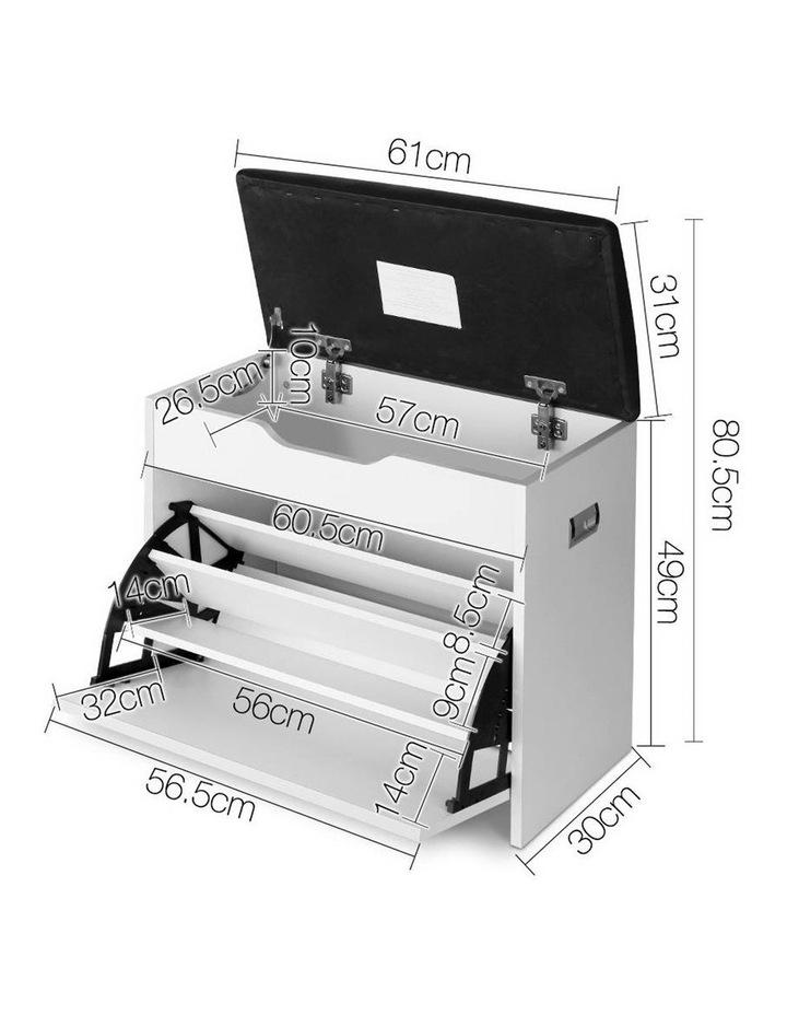 Artiss Adjustable 3 Tier Storage Cupboard - White image 2