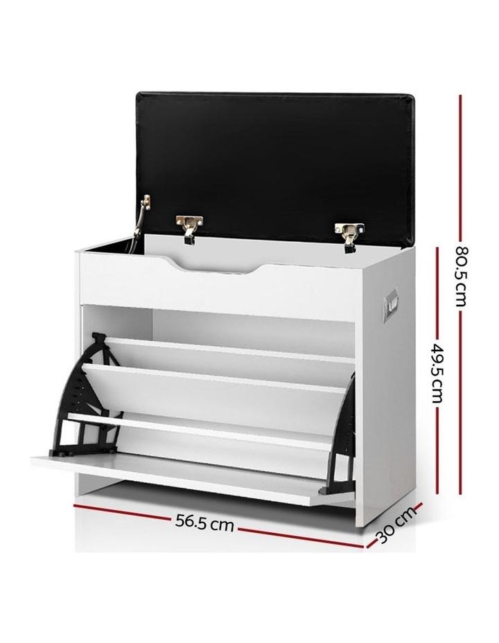Artiss Adjustable 3 Tier Storage Cupboard - White image 3