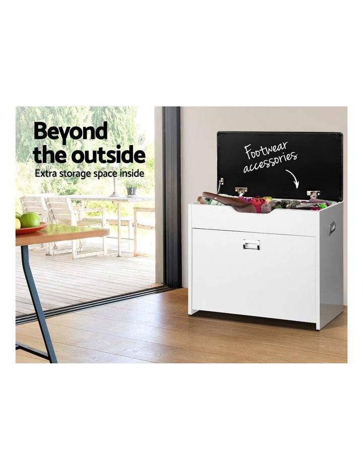 Artiss Adjustable 3 Tier Storage Cupboard - White image 4