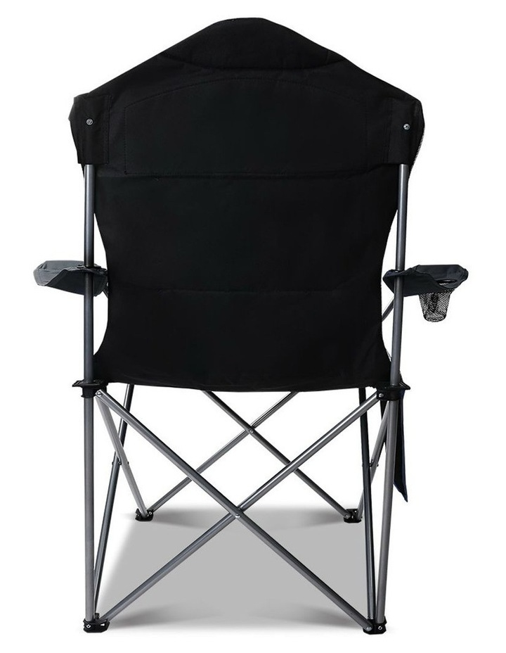 Set of 2 Portable Folding Camping Arm Chair - Grey image 3