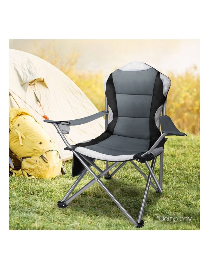 Set of 2 Portable Folding Camping Arm Chair - Grey image 7