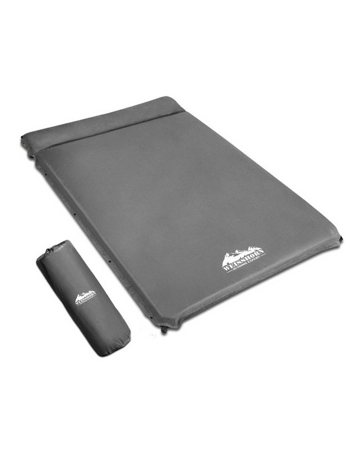 Double Thickness Self inflating Mattress in Grey image 1