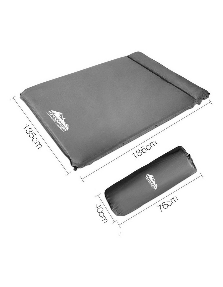 Double Thickness Self inflating Mattress in Grey image 2