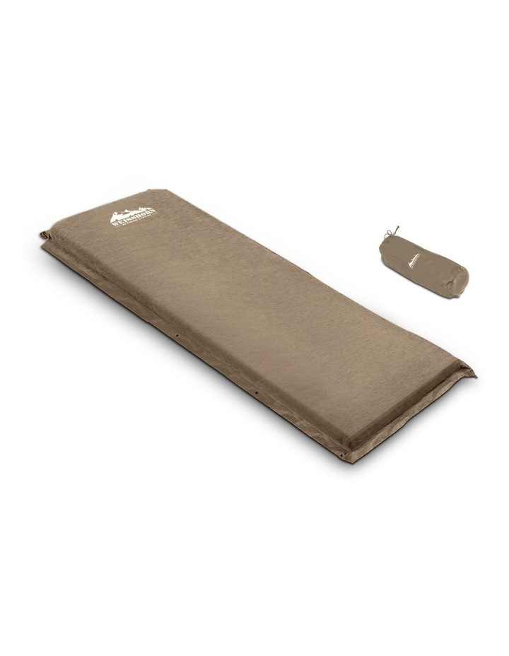 Self Inflating Mattress Single Size in Brown image 1