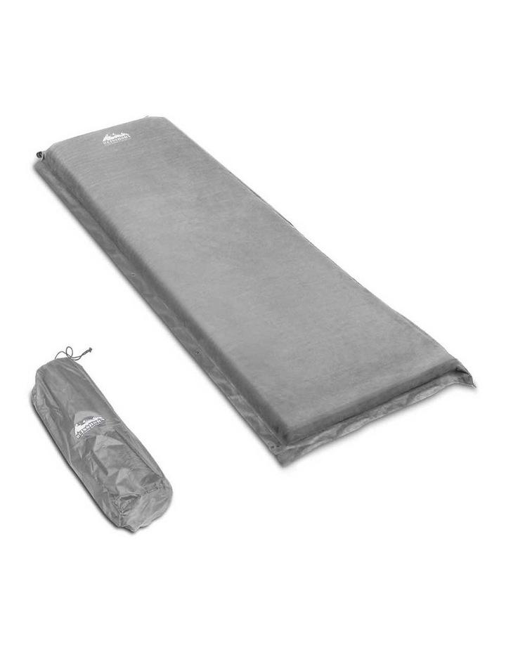 Self Inflating Mattress Single Size in Grey image 1