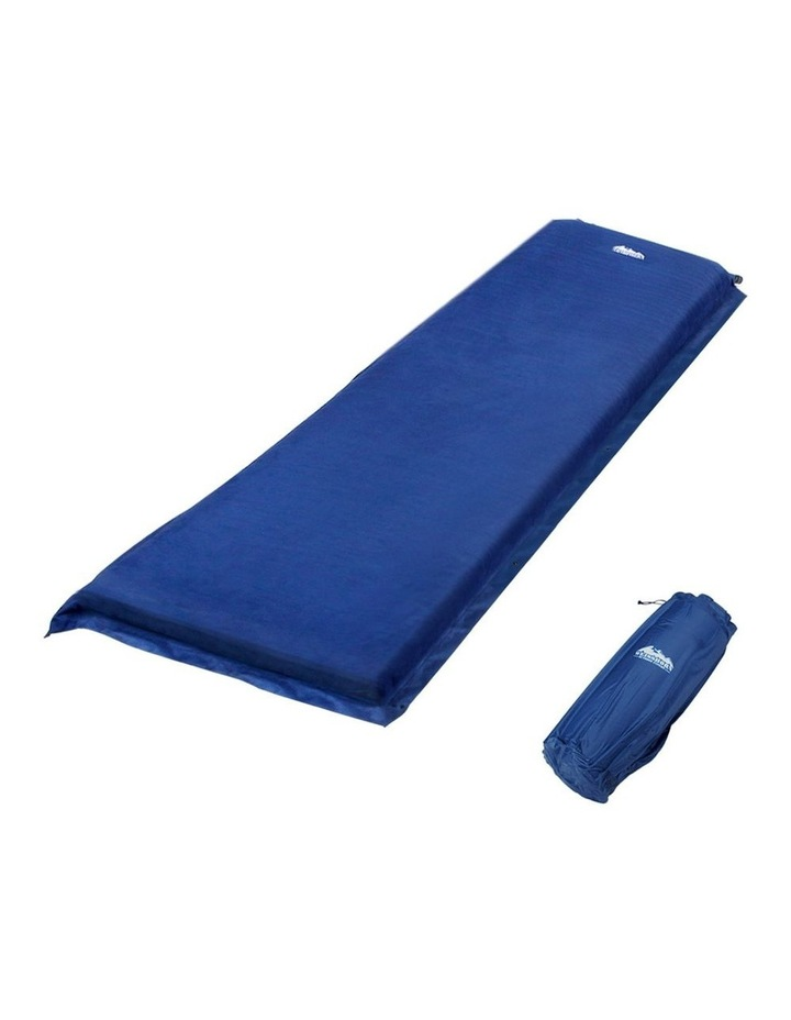 Self Inflating Mattress Single Size in Blue image 1
