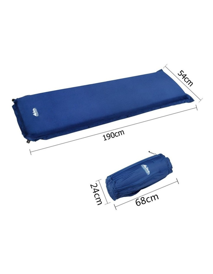 Self Inflating Mattress Single Size in Blue image 2