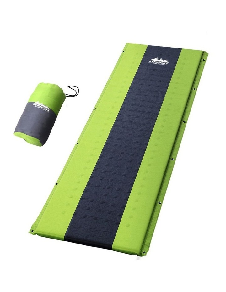 Self Inflating Mattress Single Size in Green image 1