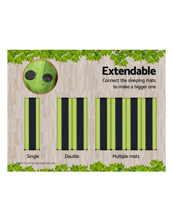 Self Inflating Mattress Single Size in Green image 4
