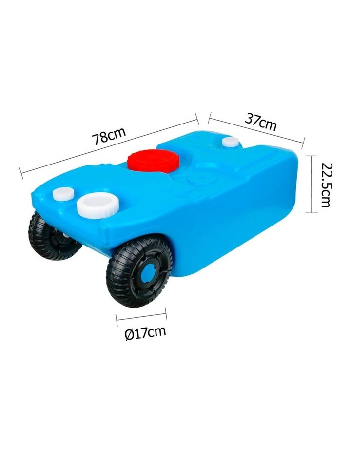 40L Portable Wheel Water Tank - Blue image 2