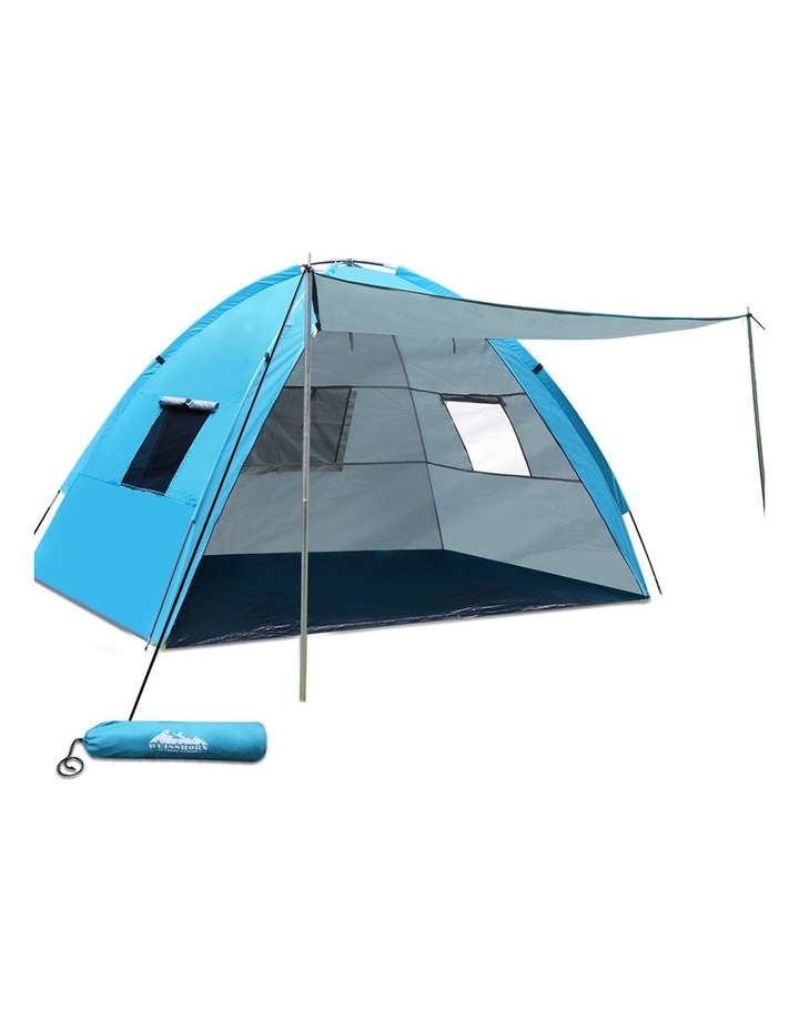 3-4 Person Camping Tent Beach Sun Shade Shelter w/ awning image 1
