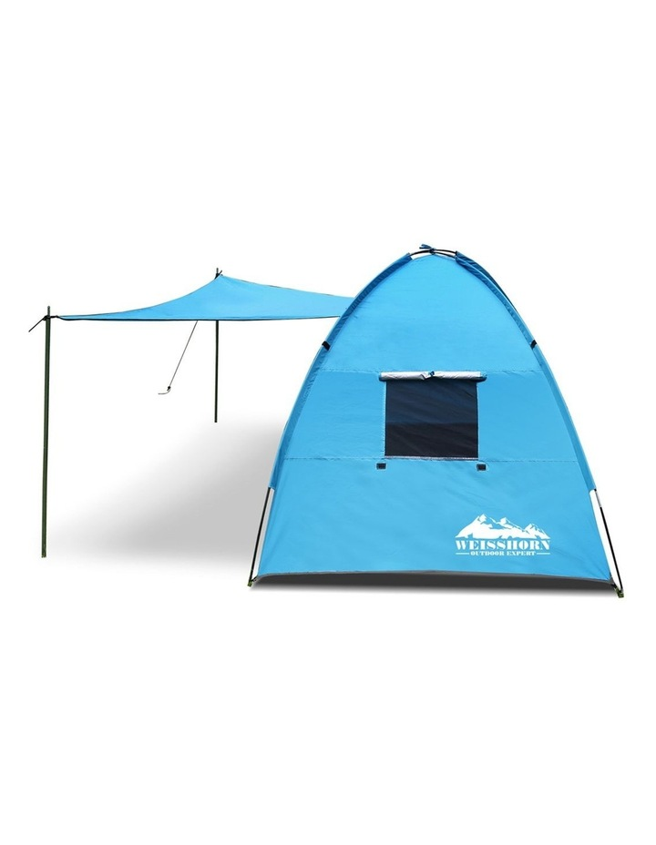 3-4 Person Camping Tent Beach Sun Shade Shelter w/ awning image 4