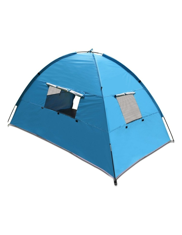 3-4 Person Camping Tent Beach Sun Shade Shelter w/ awning image 5