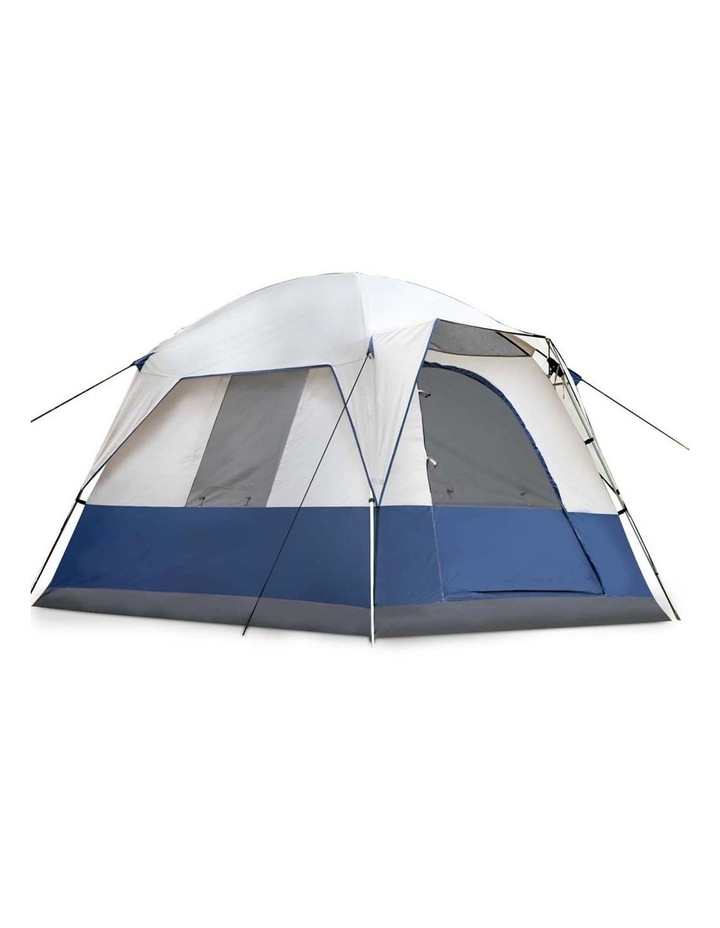 4 Person Canvas Camping Tent - Navy and Grey image 4