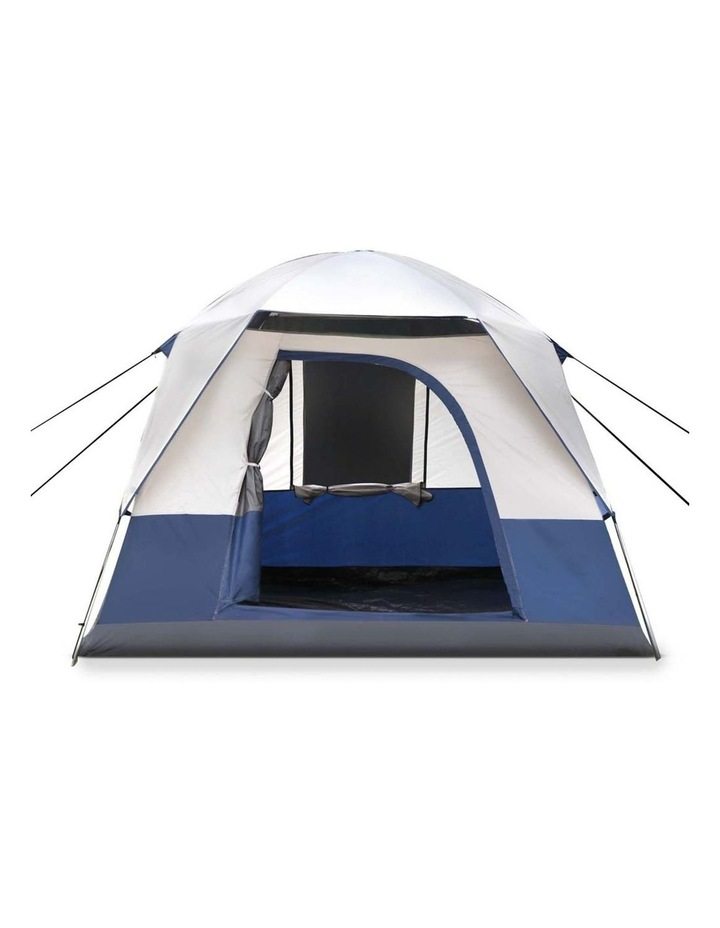 4 Person Canvas Camping Tent - Navy and Grey image 5