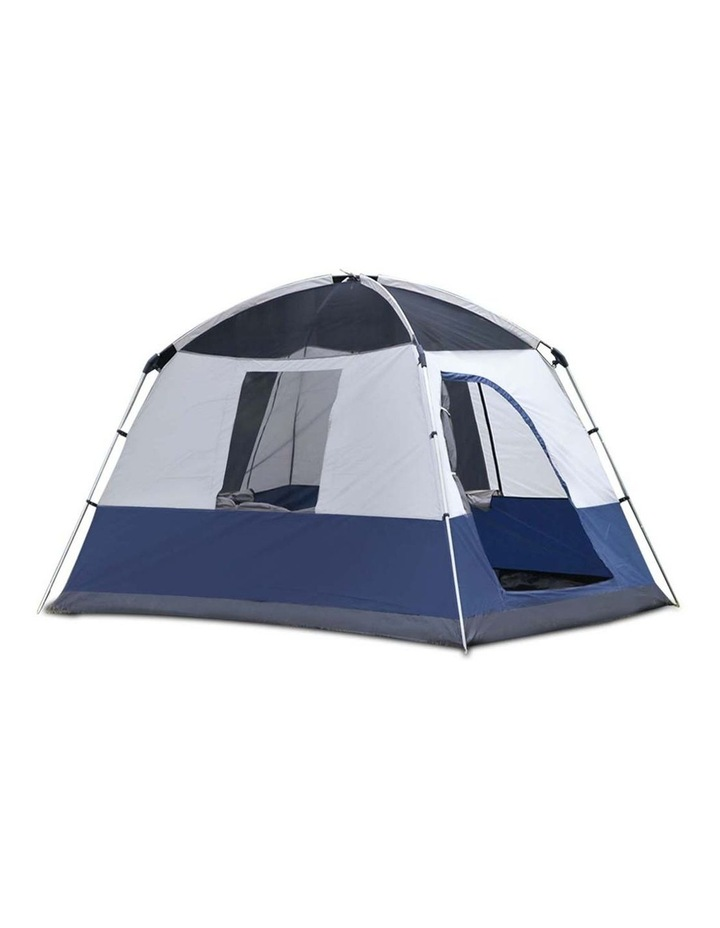 4 Person Canvas Camping Tent - Navy and Grey image 6