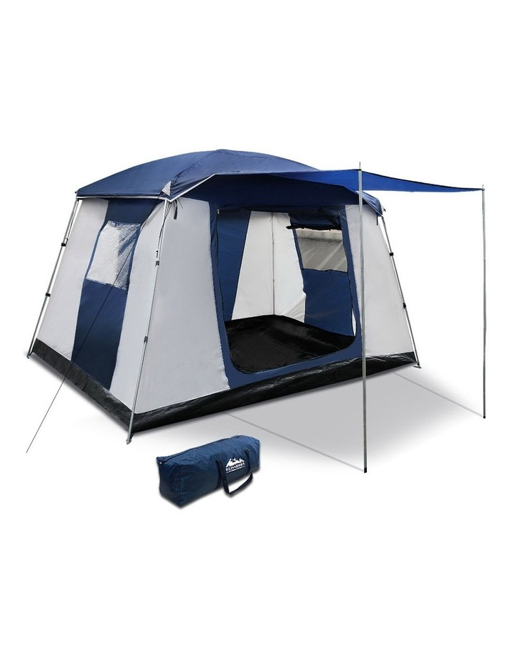 6 Person Dome Camping Tent - Navy and Grey image 1