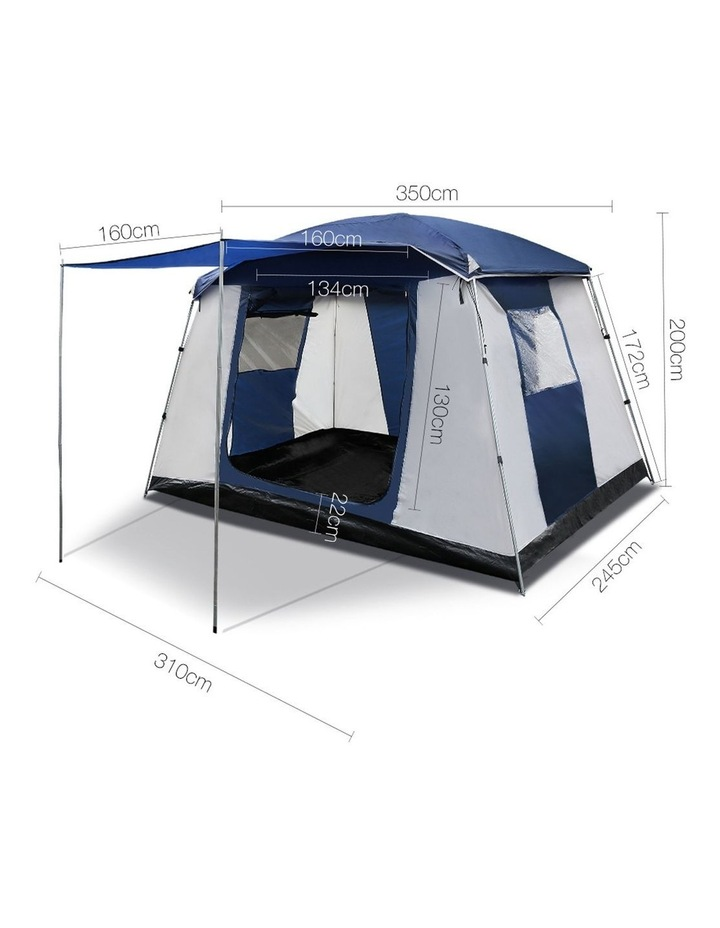 6 Person Dome Camping Tent - Navy and Grey image 2