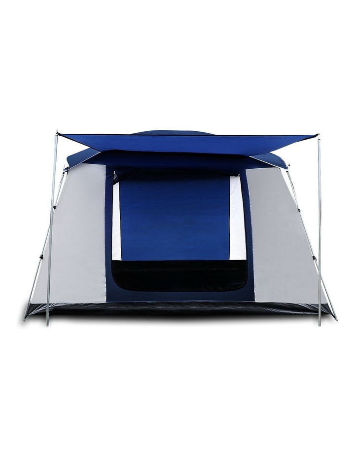 6 Person Dome Camping Tent - Navy and Grey image 3