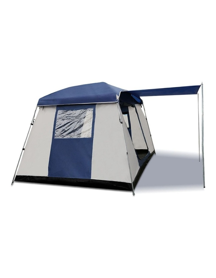 6 Person Dome Camping Tent - Navy and Grey image 4