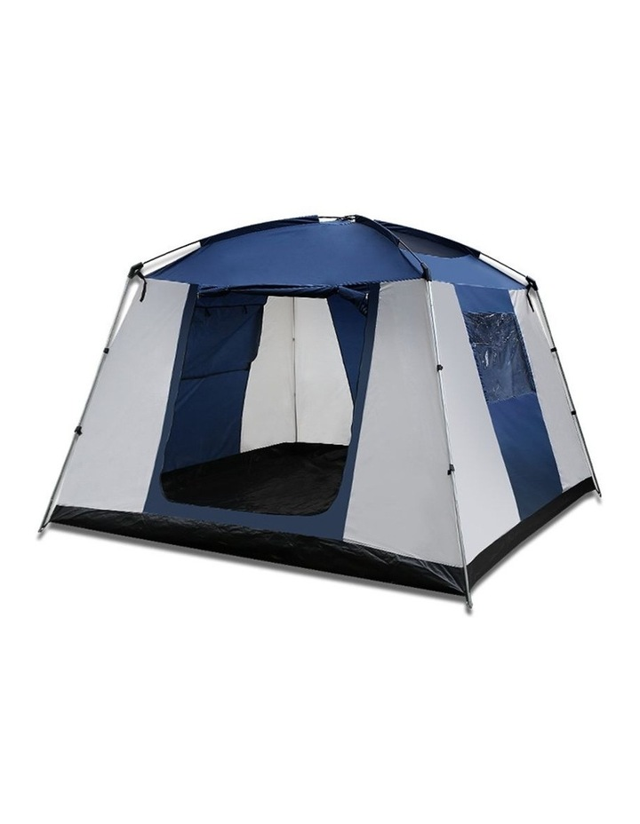 6 Person Dome Camping Tent - Navy and Grey image 5