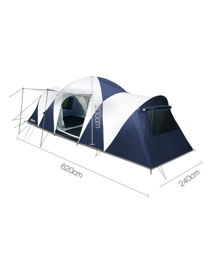 12 Person Canvas Dome Camping Tent - Navy and Grey image 2