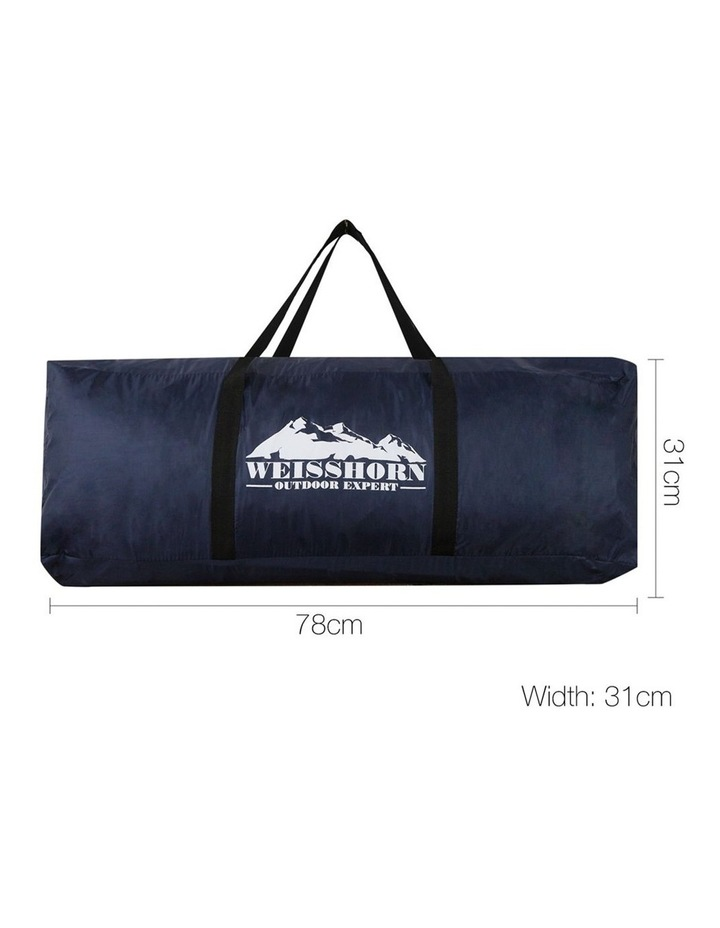 12 Person Canvas Dome Camping Tent - Navy and Grey image 3