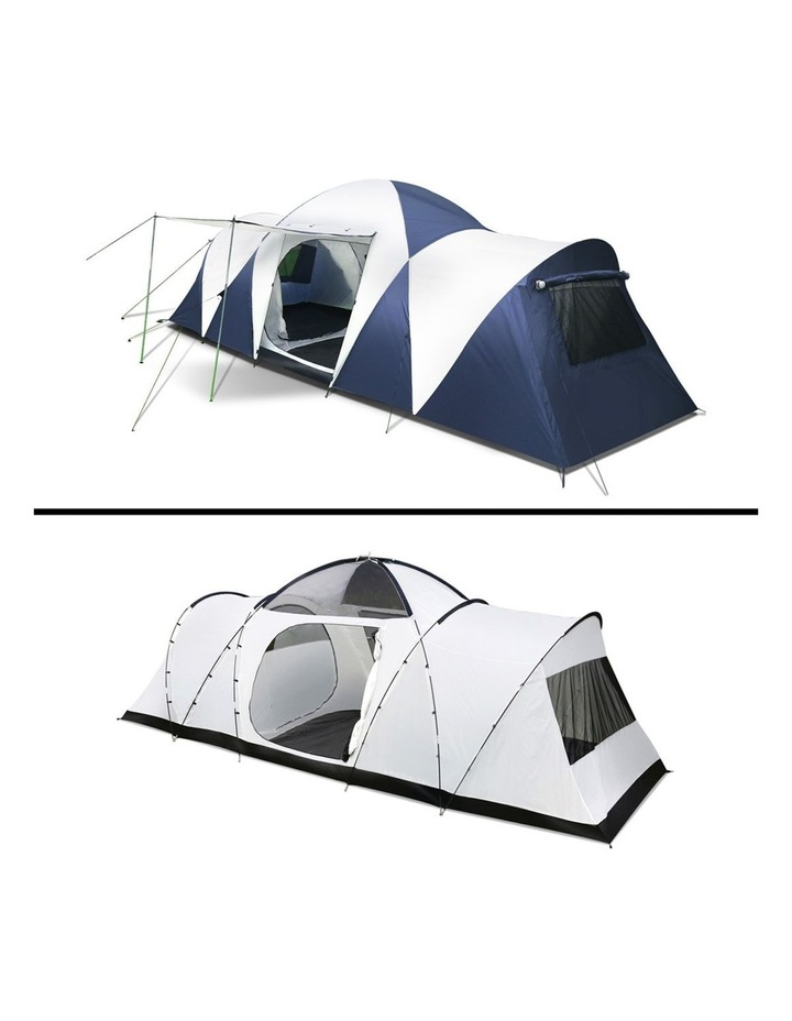 12 Person Canvas Dome Camping Tent - Navy and Grey image 6