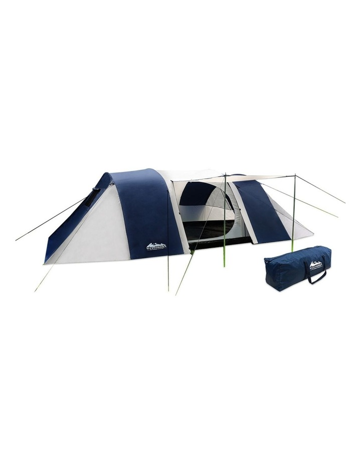 12 Person Canvas Dome Camping Tent - Navy and Grey image 1