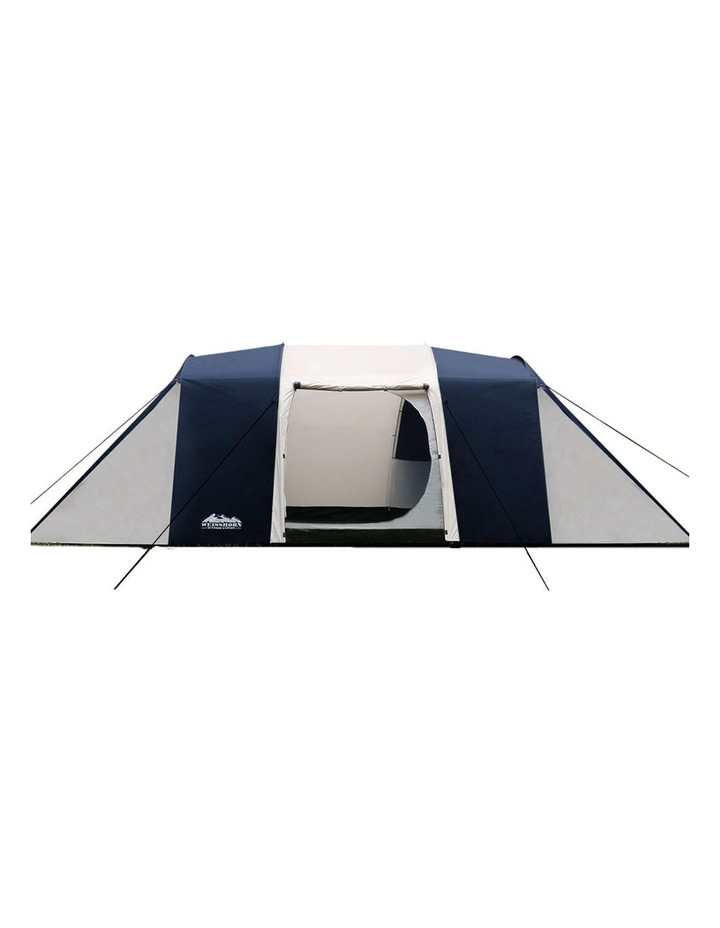 12 Person Canvas Dome Camping Tent - Navy and Grey image 4