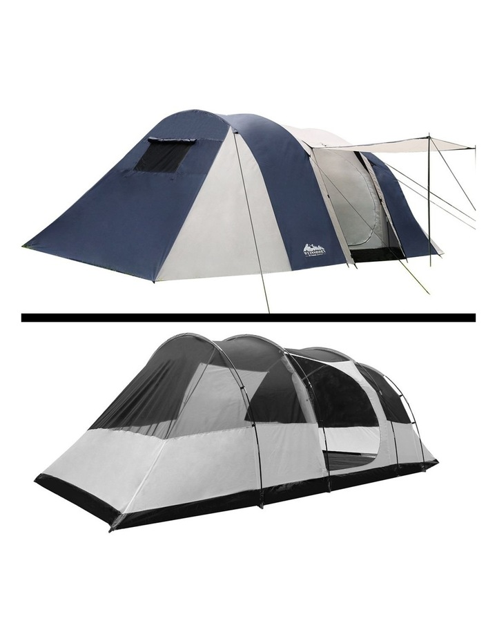 12 Person Canvas Dome Camping Tent - Navy and Grey image 5