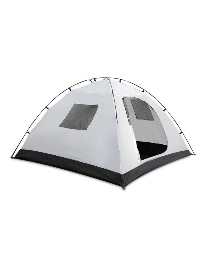 4 Person Canvas Dome Camping Tent - Navy and White image 5