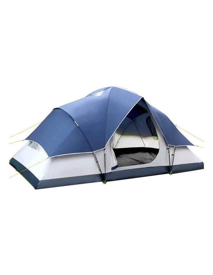 6 Person Family Camping Tent Navy Grey image 1