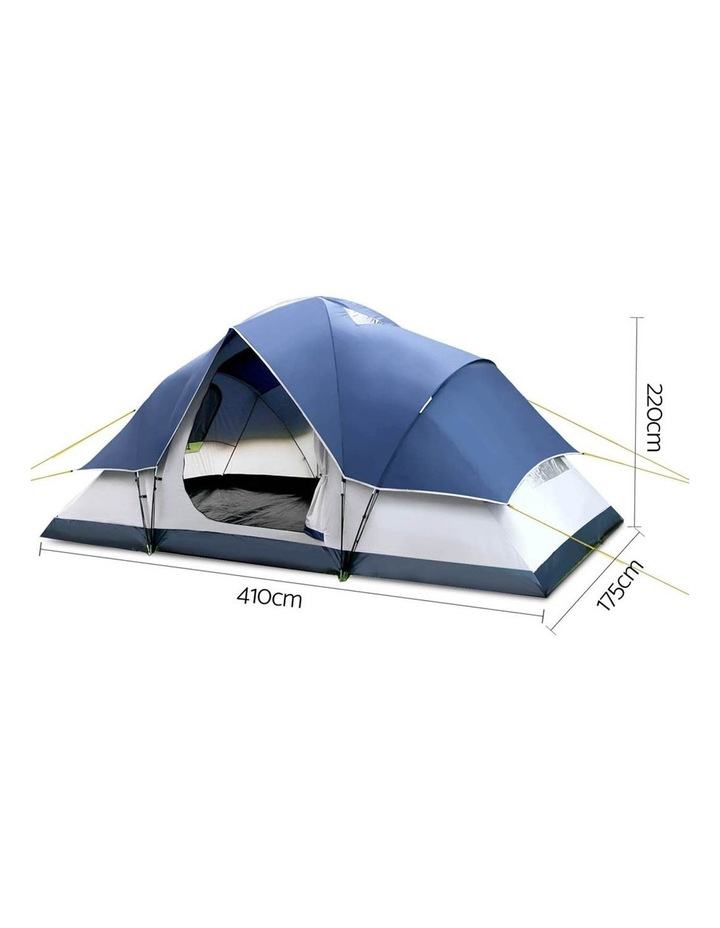 6 Person Family Camping Tent Navy Grey image 2