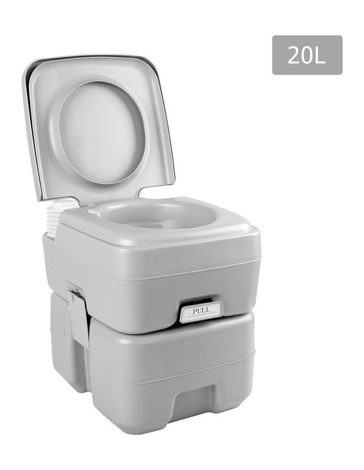 20L Portable Outdoor Toilet - Grey image 1