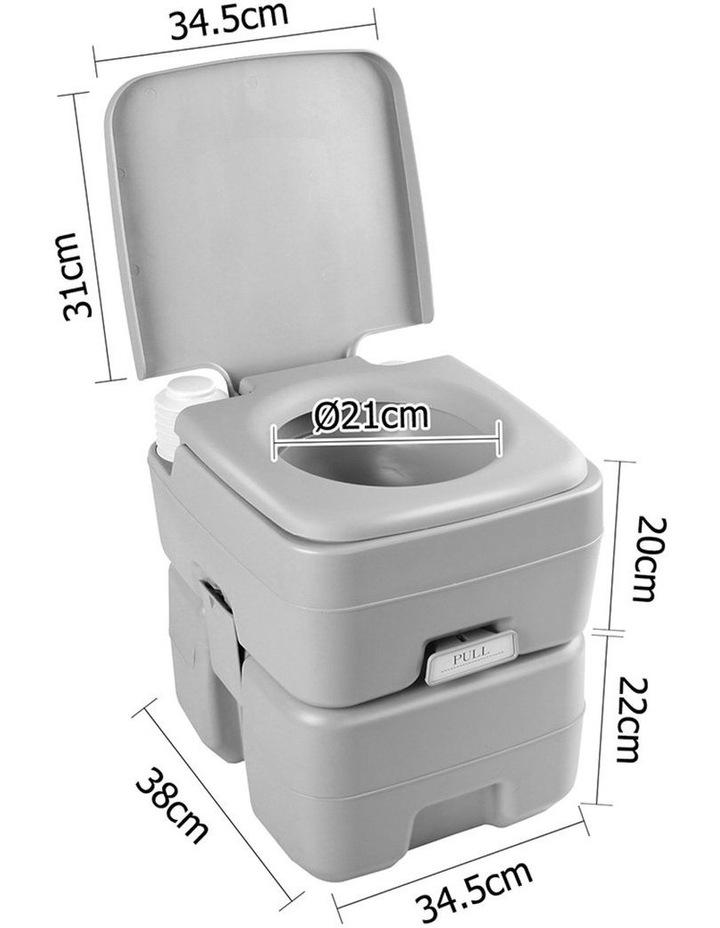 20L Portable Outdoor Toilet - Grey image 2