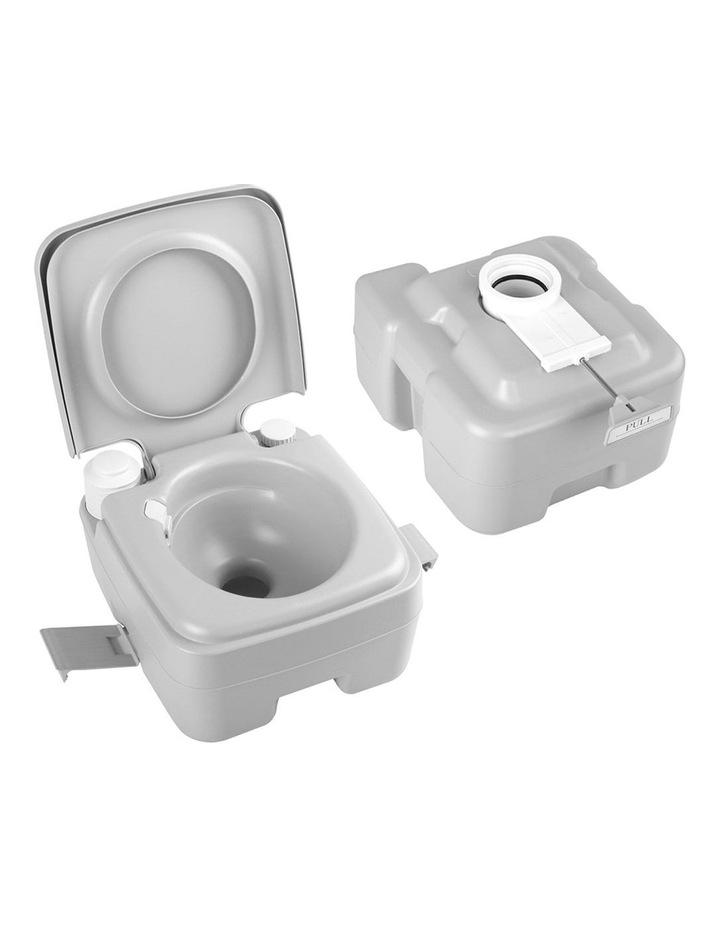 20L Portable Outdoor Toilet - Grey image 6
