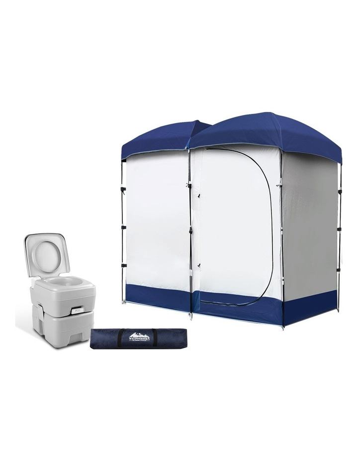 20L Outdoor Portable Toilet Camping Shower Tent Ensuite Change Room image 1