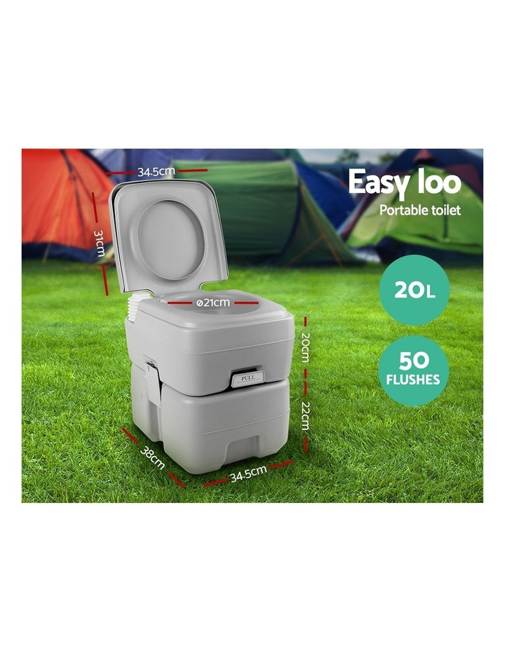 20L Outdoor Portable Toilet Camping Shower Tent Ensuite Change Room image 5